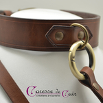 Collier-SM-cuir-marron-anneau-couleur-bronze-2