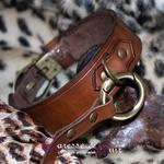 Collier-SM-cuir-marron-anneau-couleur-bronze-0