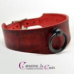 collier-sm-cuir-rouge-veinage-noir-3