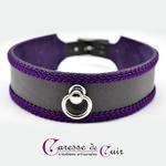 collier-sm-cuir-broderie-anneau-cuir-noir-galon-violet-1