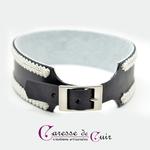 collier-sm-cuir-broderie-anneau-cuir-noir-galon-blanc-4