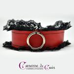 collier-tour-de-cou-SM-cuir-rouge-dentelle-noire-2