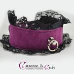 collier-tour-de-cou-SM-cuir-violet-dentelle-noire-1