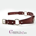 collier-cuir-rouge-sm-martellage-trois-anneaux-3