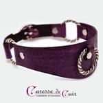 collier-cuir-violet-sm-martellage-trois-anneaux-2