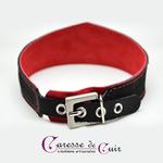 ensemble-collier-sm-cuir-laisse-noir-rouge-caressedecuir-5