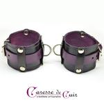 paire-de-bracelets-sm-cuir-noir-violet-2