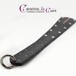paddle-cuir-noir-strass-rouge-anneau-mousqueton-2