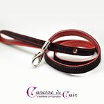 laisse-cuir-noir-rouge-surpiqure-sm-mousqueton-caressedecuir-caresse-de-cuir-02