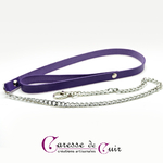 laisse-sm-cuir-chaine-violet-1