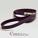 laisse-cuir-violet-mousqueton-3