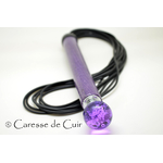 martinet-bdsm-latex-serpent-violet-cuir-caresse de cuir -1