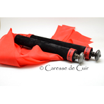 caressedecuir - duo-martinet - bdsm - cuir - latex - noir - rouge - 1