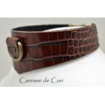 Caresse-de-cuir-Collier -sm-marron-phyton-cuir-03