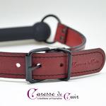 baillon mors silicone et cuir artisanal rouge caresse de cuir -7