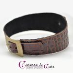 Caresse-de-cuir-ensemble - bracelets - Collier -sm-marron-phyton-cuir-08