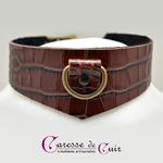 Caresse-de-cuir-ensemble - bracelets - Collier -sm-marron-phyton-cuir-10