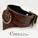 Caresse-de-cuir-ensemble - bracelets - Collier -sm-marron-phyton-cuir-12