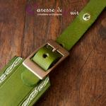 Collier-SM-cuir-vert-argenté-6