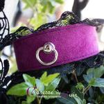 collier-tour-de-cou-SM-cuir-violet-dentelle-noire-4