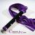 caresse de cuir - martinet  - violet et noir - cuir nubuck -2