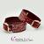 Paire-Bracelet-cuir-rouge-noir-martelage-argent-sm-anneau 3
