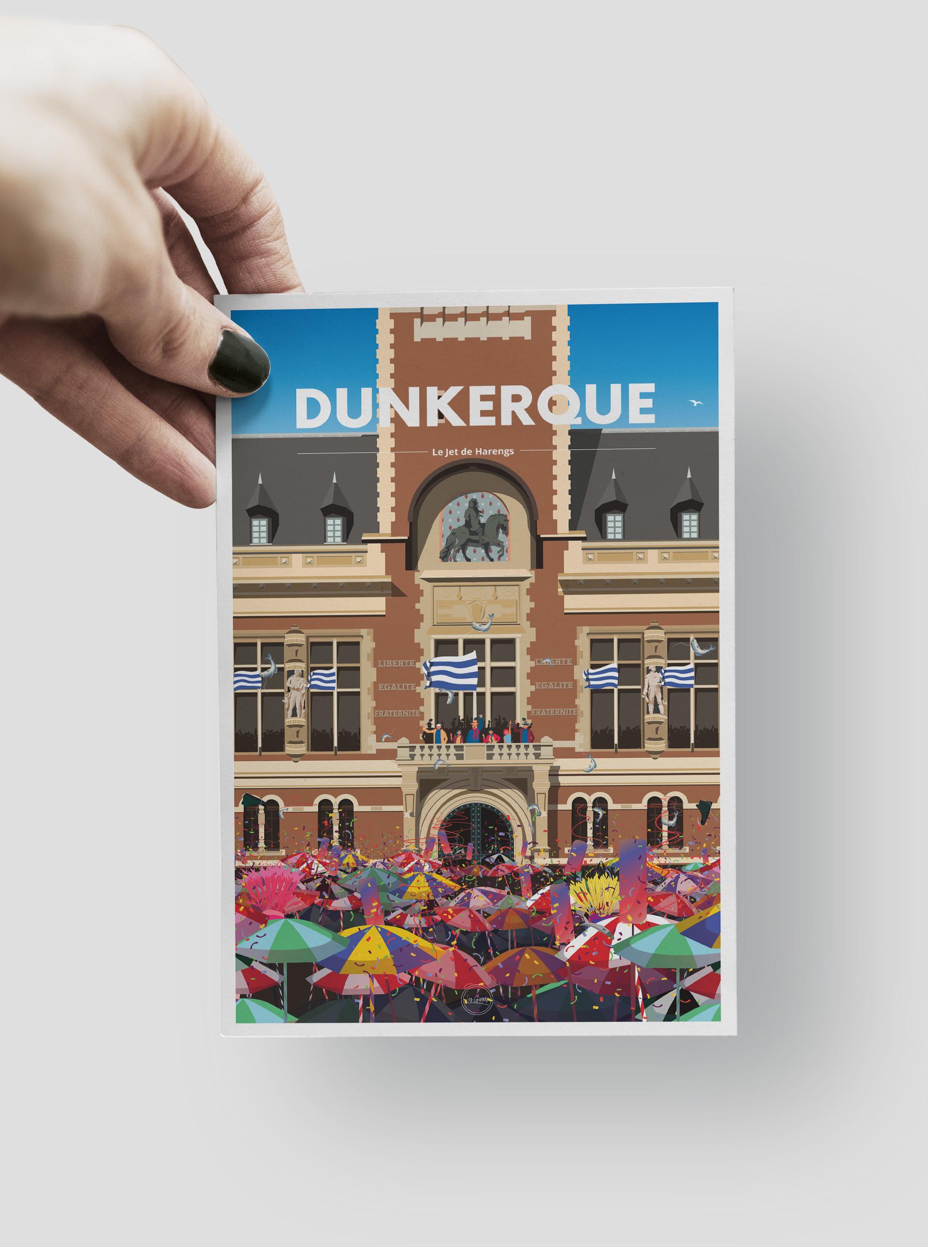 CARTE POSTALE - DUNKERQUE - LE JET DE HARENGS