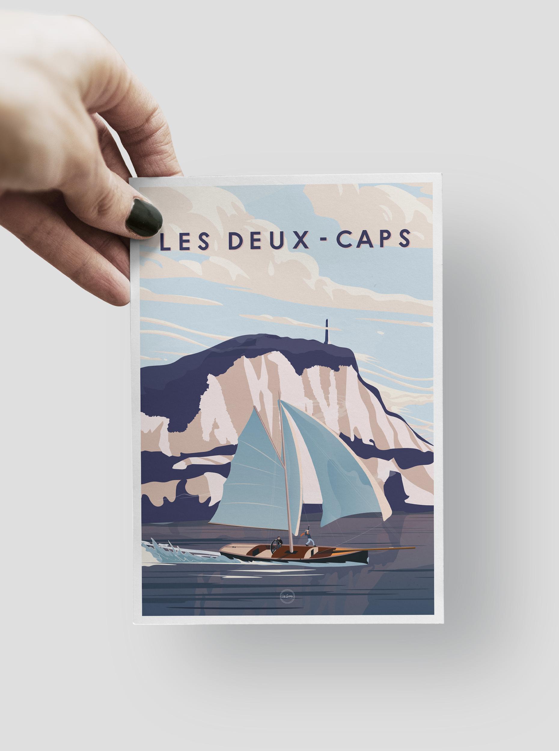 CARTE POSTALE - LES DEUX CAPS