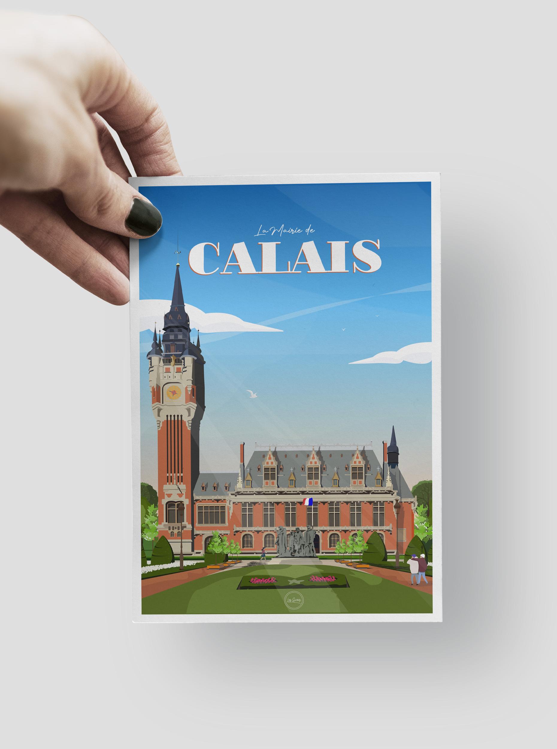 CARTE POSTALE - CALAIS - LA MAIRIE