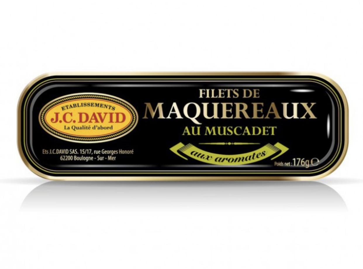 FILETS DE MAQUEREAUX AU MUSCADET ET AROMATES - 176 g