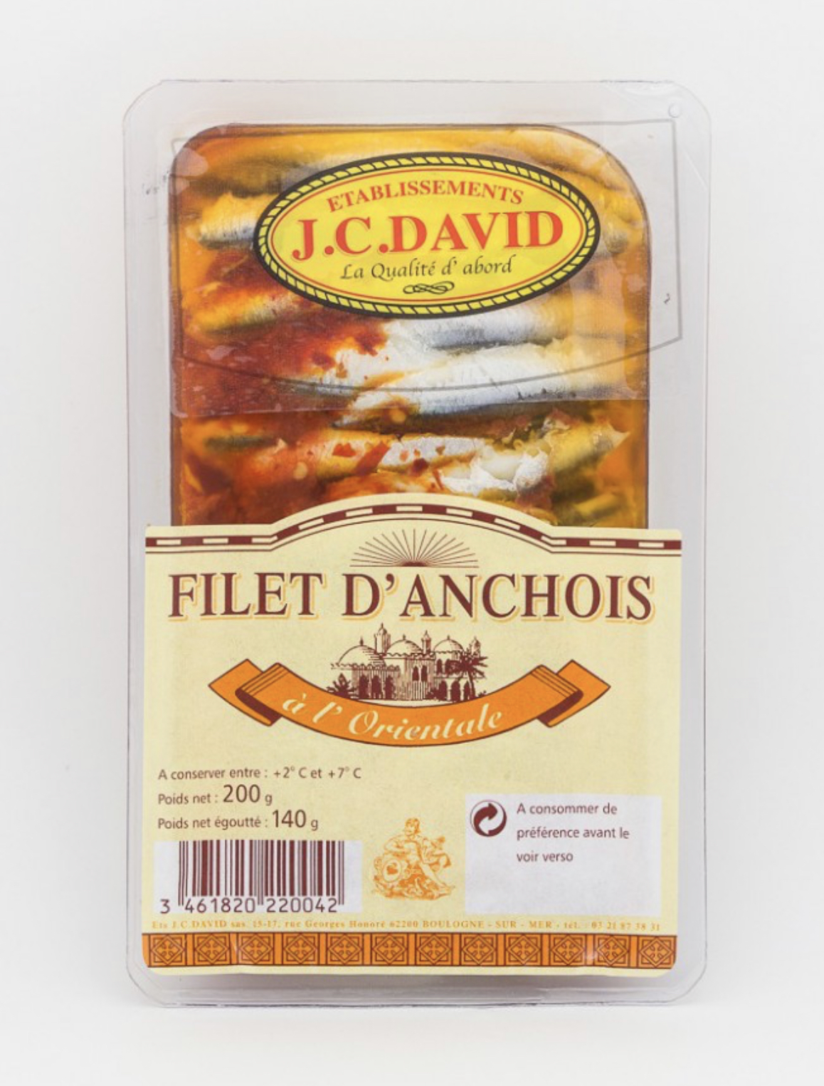 FILETS D\'ANCHOIS À L\'ORIENTALE - 200 g