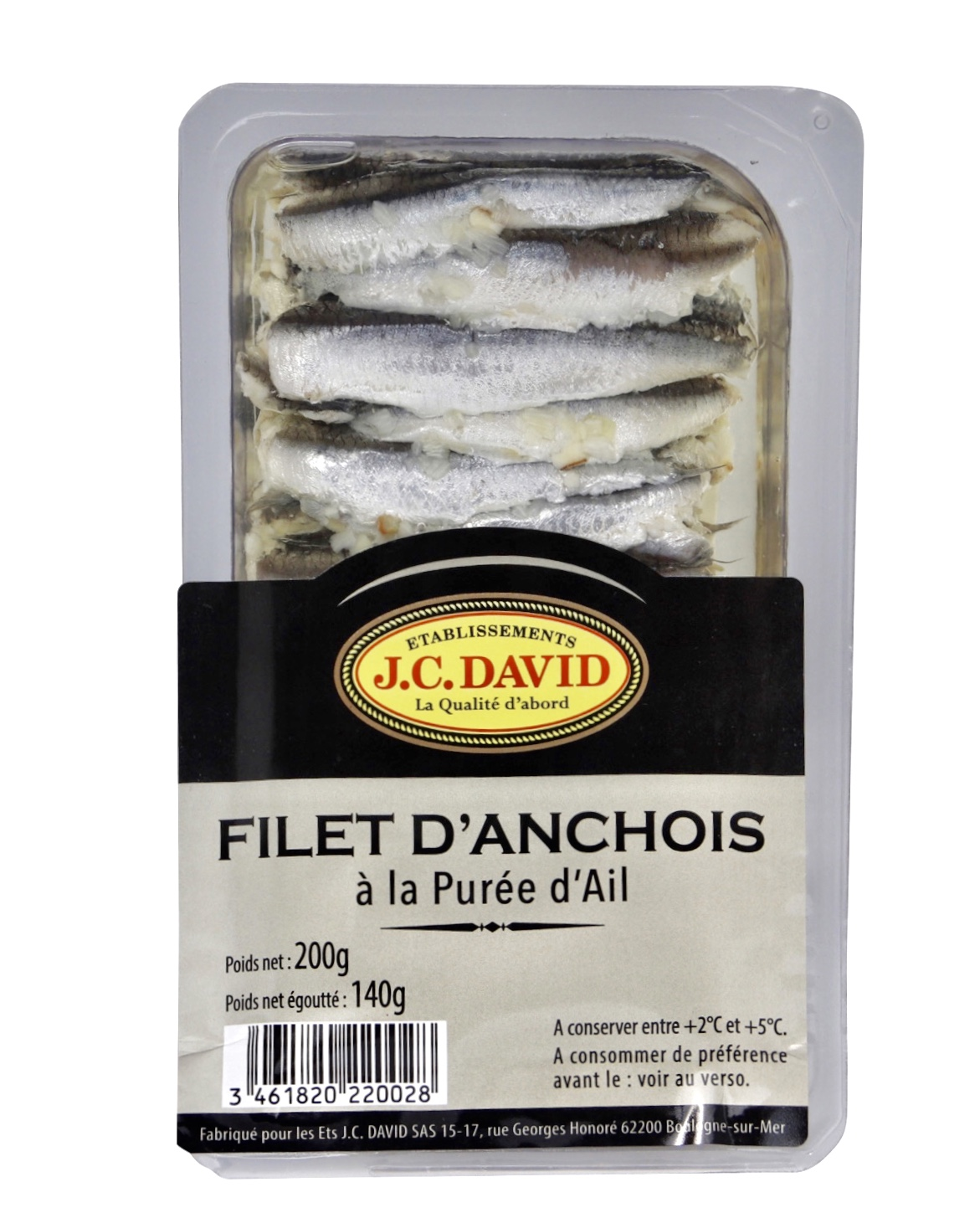 FILETS D\'ANCHOIS À L\'AIL - 200 g