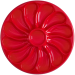 Assiette huitres grande rouge
