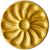 Assiette huitres grande or