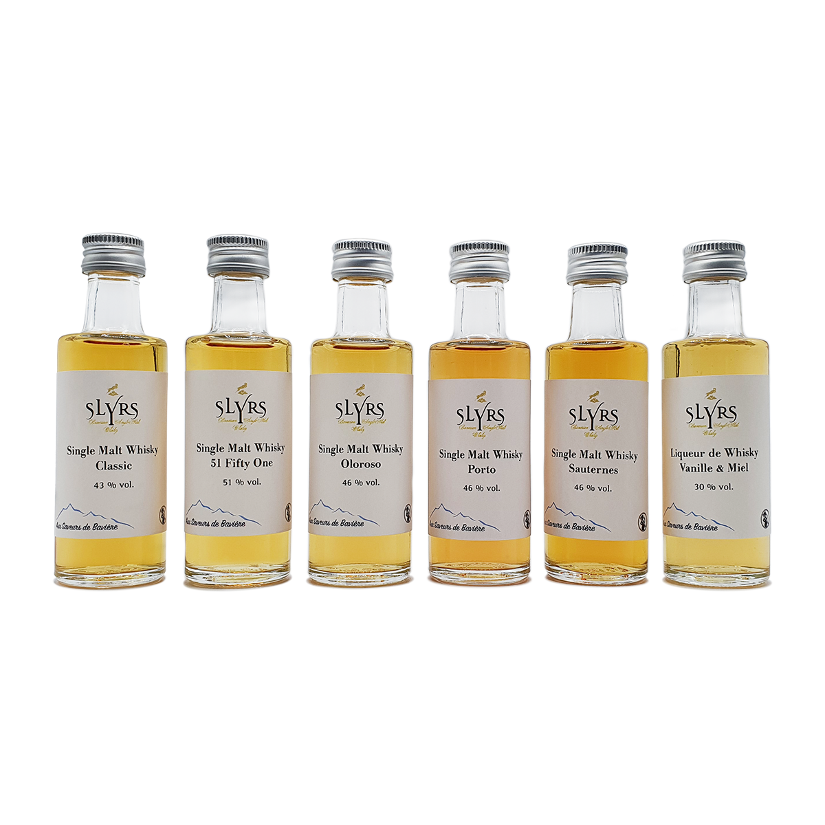 Coffret de dégustation de whiskies SLYRS (6 x 40 ml)