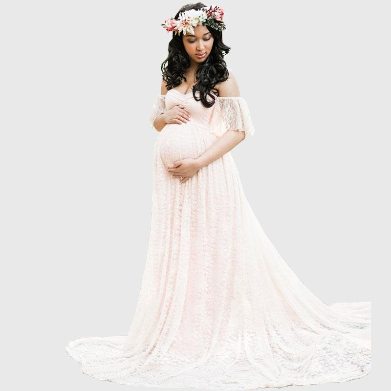Robe de grossesse bustier en dentelle pour séance photo