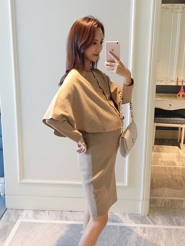 Robe de grossesse Kimiko  - Beige/Noir