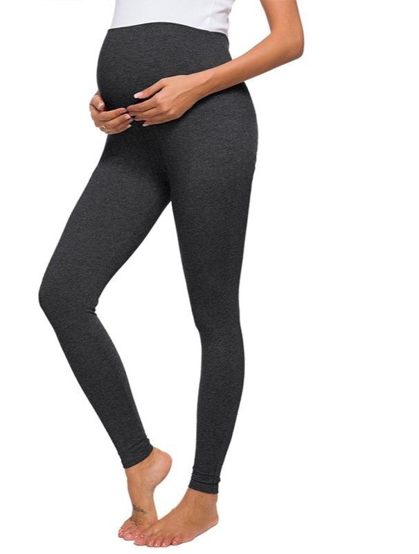 Legging de grossesse taille haute - Gris foncé/Noir