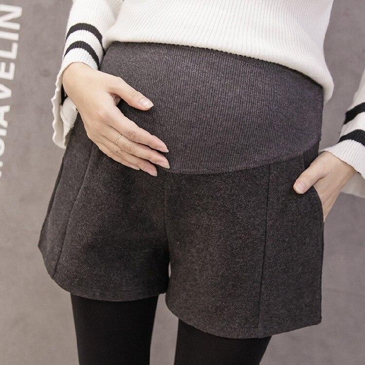 Short de grossesse en laine motif vertical - Ardoise/Gris clair/Noir - Livré en 48H/72H