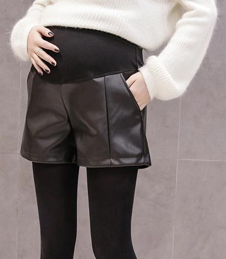 short grossesse simili cuir 3