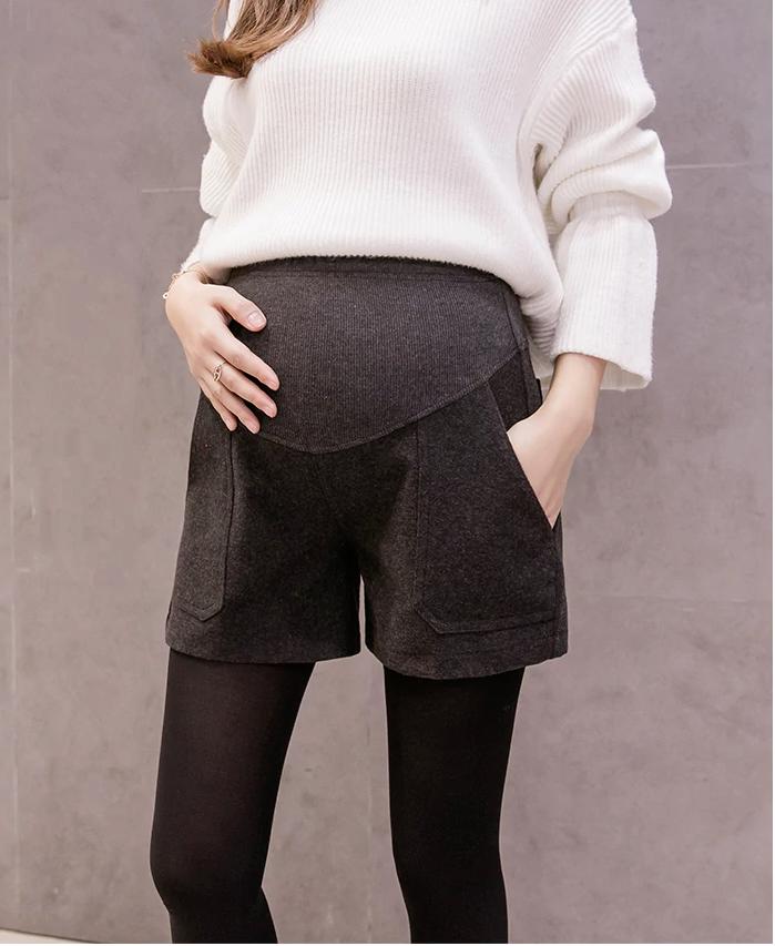 Short grossesse laine ardoise-retouche
