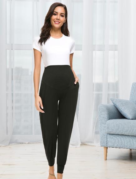 Pantalon de grossesse alladin- Noir/Gris/Gris foncé
