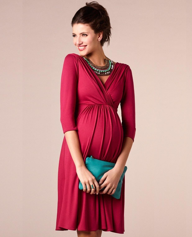 Robe de grossesse et d\'allaitement élégante- Noir/Bleu/Rouge
