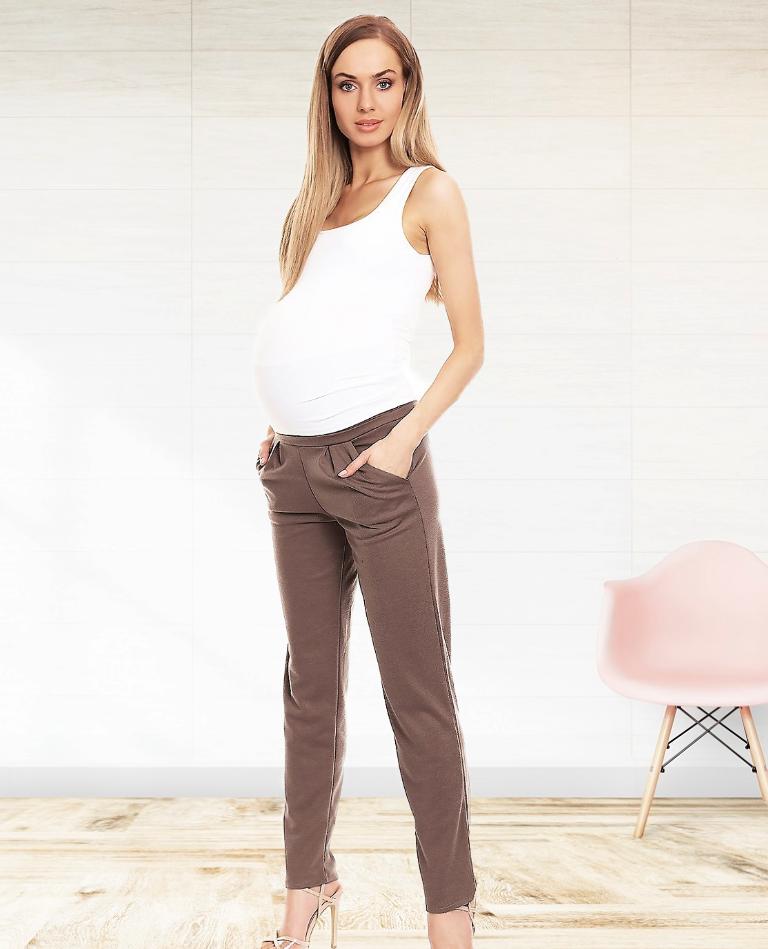 Pantalon droit de grossesse - Noir/Marron/Gris - Livré en 48H/72H
