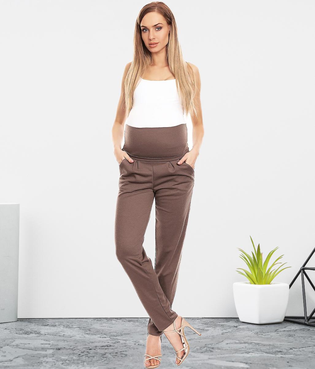 Pantalon droit de grossesse - Noir/Marron/Gris