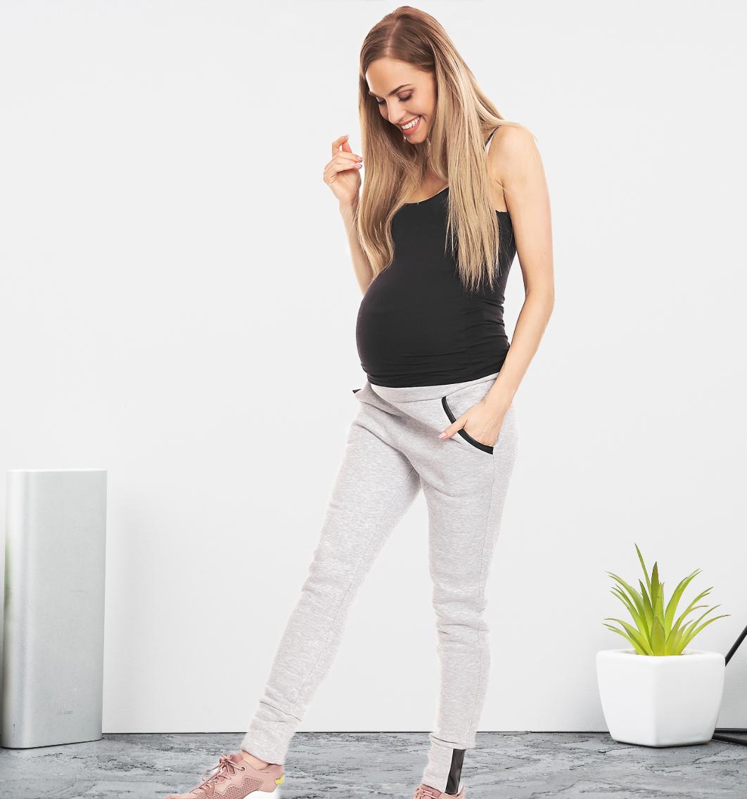 Jogging de grossesse - Gris clair/Gris foncé