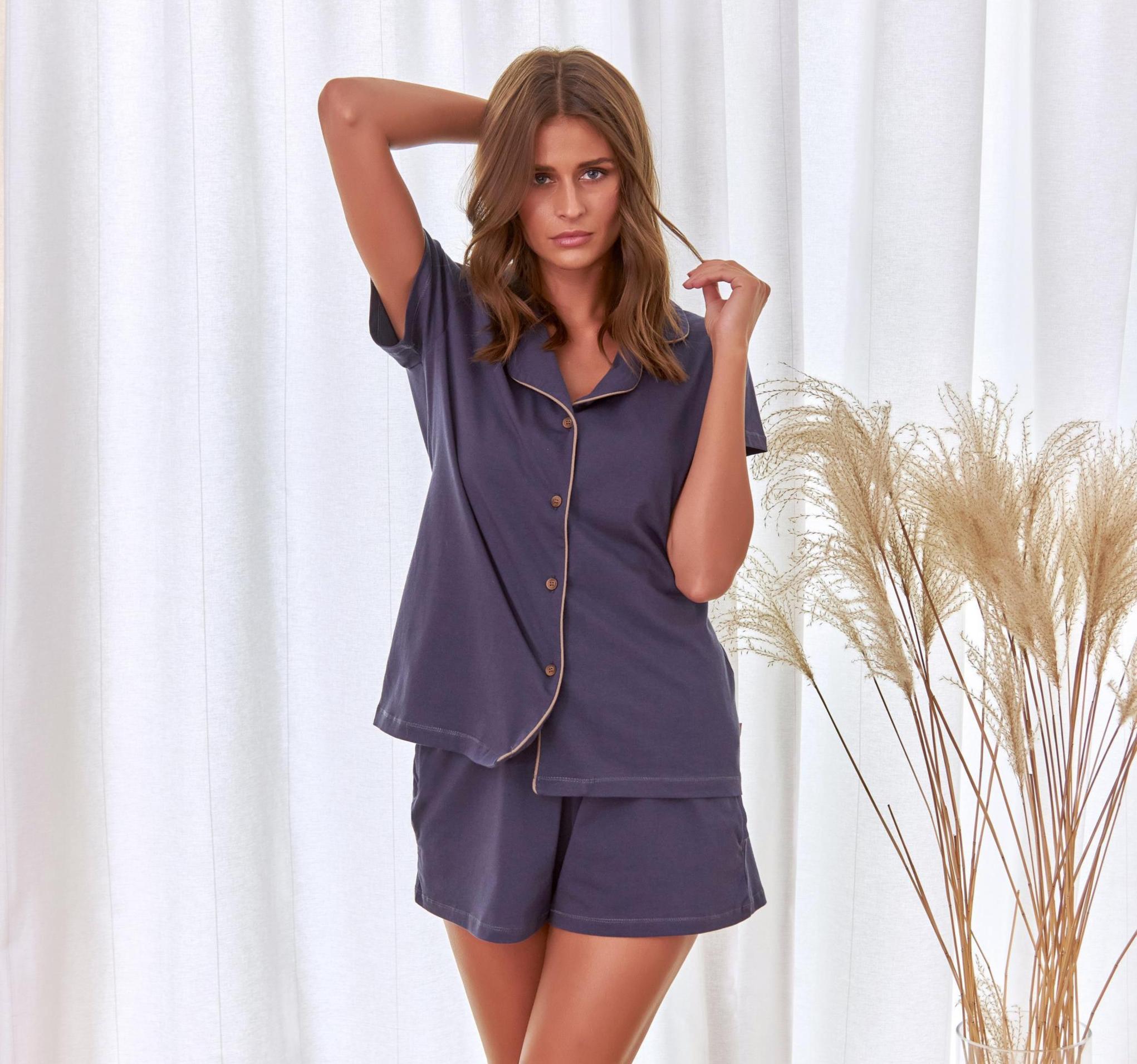 Pyjama short pour l\'allaitement en coton biologique