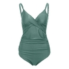 MUQGEW-femmes-enceintes-maillots-de-bain-grande-taille-couleur-Pure-rembourr-soutien-gorge-plage-Bikini-ensemble