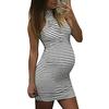MUQGEW-robe-pour-femmes-Tenue-de-maternit-rayures-Sexy-Mini-robe-pour-femmes-enceintes-livraison-directe