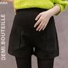 605-automne-hiver-laine-maternit-Shorts-taille-haute-ventre-d-contract-Shorts-v-tements-pour-femmes